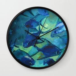Covey blue fish Wall Clock