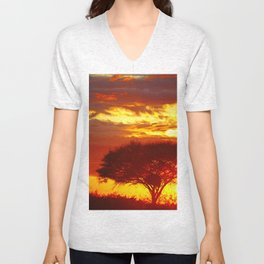 Glowing African Morning Unisex V-Neck