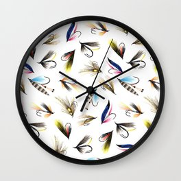 Classic Salmon Fishing Flies Wall Clock
