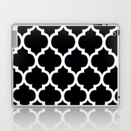 Moroccan Black and White Lattice Moroccan Pattern Laptop & iPad Skin