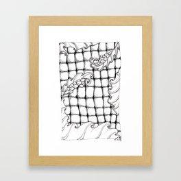 Dragon flowers Framed Art Print