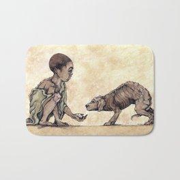 Boy and Puppy Bath Mat