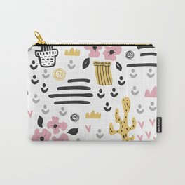 Cute flowers and cactus Carry-All Pouch