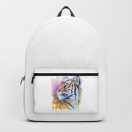 Young Tiger Watercolor Portrait Backpack