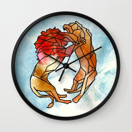 Lions Wall Clock