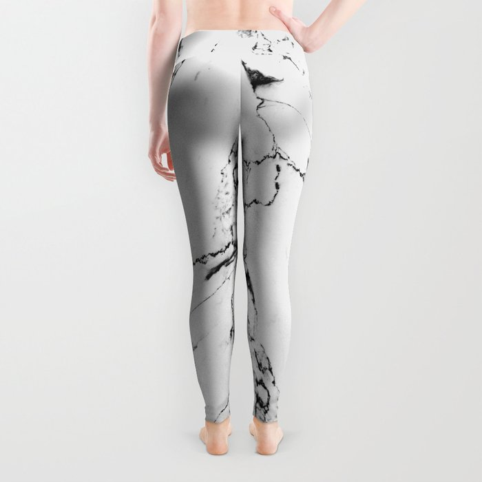 White Marble I Leggings