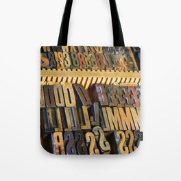 Type Drawer Tote Bag