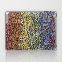 rainbow of butterflies aflutter Laptop & iPad Skin