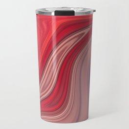 liquefied red Travel Mug