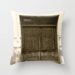 The Crooked Door Throw Pillow