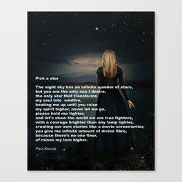 Pick A Star Canvas Print