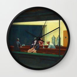 Pennywise in Hopper's Nighthawks Wall Clock