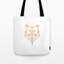 Gold Bear Two Tote Bag