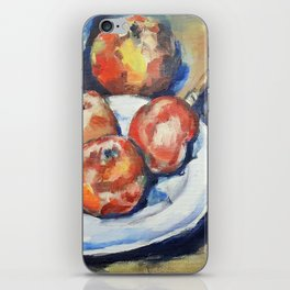 Four Apples and a Knife Cezanne Interpretation iPhone Skin