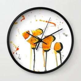 Clownfish - Watercolor Painting Wall Clock