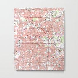 Vintage Anaheim & Garden Grove CA Map (1965) 2 Metal Print