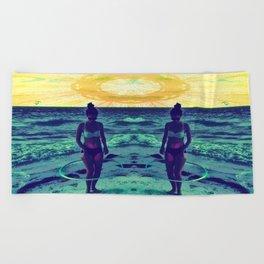 Mandala Beach Beach Towel