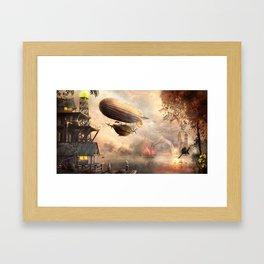 steampunk sunset Framed Art Print