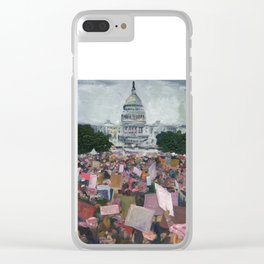 Women's March Clear iPhone Case