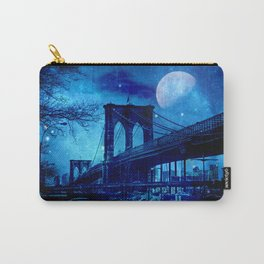 Full Moon Over Brooklyn Bridge Carry-All Pouch