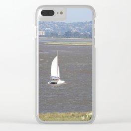 *Sailing into Launceston Tasmania* Clear iPhone Case