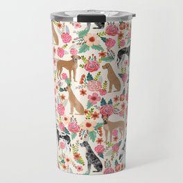 Great Dane floral dog breed pet friendly pet pattern great danes pure breed Travel Mug