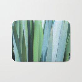 blue and green leaves Bath Mat