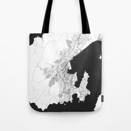 Wellington Map Gray Tote Bag