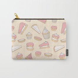 Pink Pastry Pattern Carry-All Pouch
