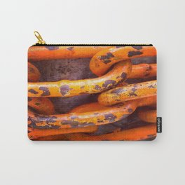 Orange Chains Carry-All Pouch