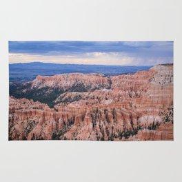 Sunset over Hoodoos - Bryce Canyon National Park, Rocky Natural Landscape, Utah Hiking Photography Rug
