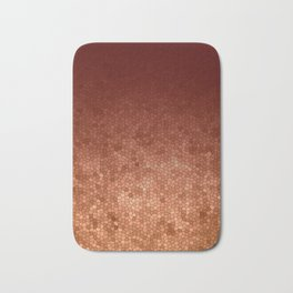 Copper Admiration - Copper Orange Warm Mosaic Bath Mat