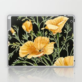California Poppies on Charcoal Black Laptop & iPad Skin