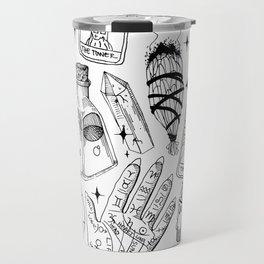 Fortune Teller Starter Pack Black and White Travel Mug