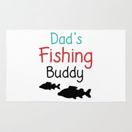 Dad's Fishing Buddy Rug