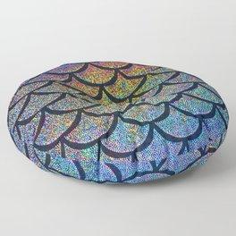 Cobalt Cantaloupe Scales Floor Pillow