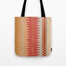 Assorted Zigzags And Waves Sienna Peach Grey Tote Bag