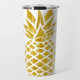 Gold Pineapple Travel Mug
