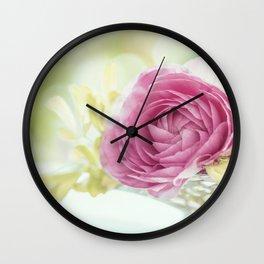 Princess like - Lightpink flower sparkling in silver bowl Stilllife Wall Clock