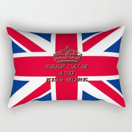 KEEP CALM AND KISS MORE Rectangular Pillow