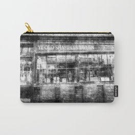 Ye Old Shambles Tavern York Vintage Carry-All Pouch