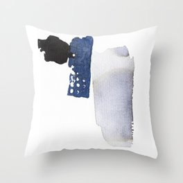 Navy Blue Abstract Throw Pillow
