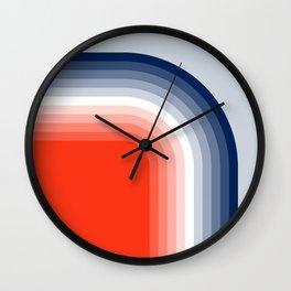 70s Stripes Rainbow Wall Clock