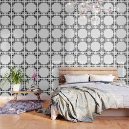 Black and white abstract pattern . Wallpaper