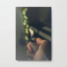 White Lighter Metal Print
