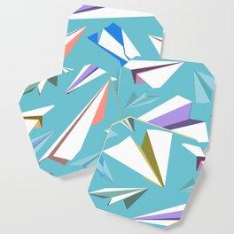 Aeroplanes - Paper Airplanes Pattern Coaster