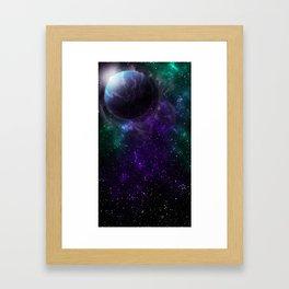 Purple Galactic Thunder Framed Art Print