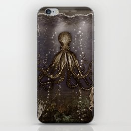 Octopus' lair - Old Photo iPhone Skin