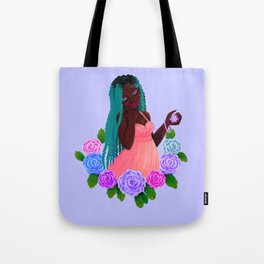 Turquoise Twists Tote Bag
