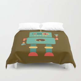 Fun Robot Toy Graphic Duvet Cover